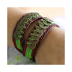 Set of 2 'Coins of Harmony' Beaded Bracelets (Thailand)