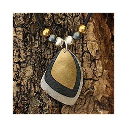 22k Goldplated Sterling Silver 'Sails' Necklace (Mexico)