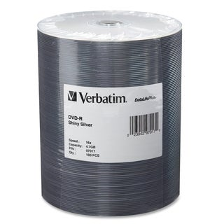 Verbatim 97017 DVD Recordable Media - DVD-R - 16x - 4.70 GB - 100 Pac