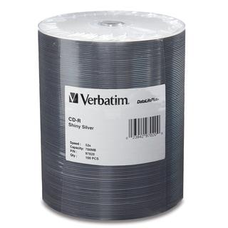 Verbatim CD-R 80MIN 700MB 52x DataLifePlus Shiny Silver 100pk Wrap -