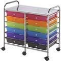 Blue Hills Studio Multicolor 12-drawer Double-wide Storage Cart