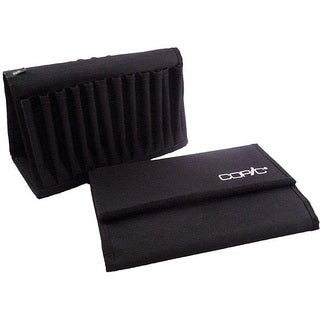 Copic Black 24-slot Marker Canvas Velcro-closure Storage Wallet
