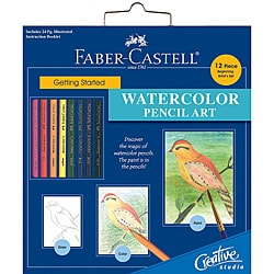 Faber-Castell Creative Studio Watercolor Pencil Getting Started Art Kit