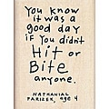 Inkadinkado Wood-mounted 'You Know it Was a Good Day' Rubber Stamp