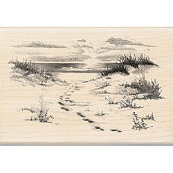 Inkadinkado Wood-mounted 'Beach' Rubber Stamp