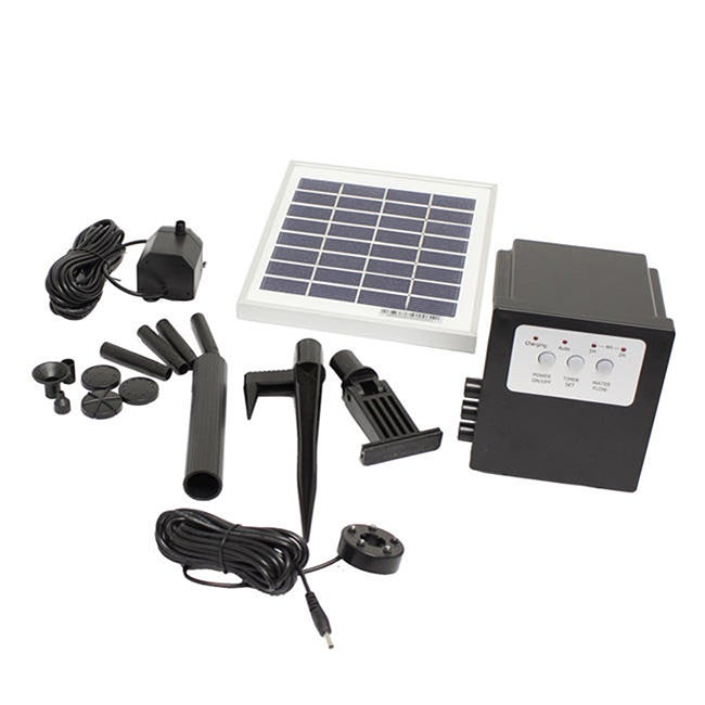 OEM Solar Water Fountain Pump With Battery LED Timer