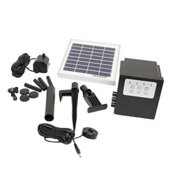 Solar Water Fountain Pump With Battery LED Timer