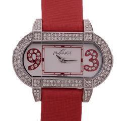 August Steiner 'The Waldorf' Women's Crystal Bezel Watch