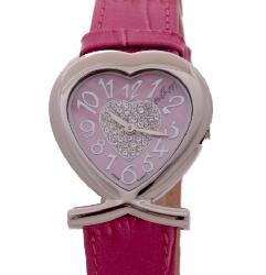 August Steiner Women's Forever Young Crystal Heart Fashion Watch