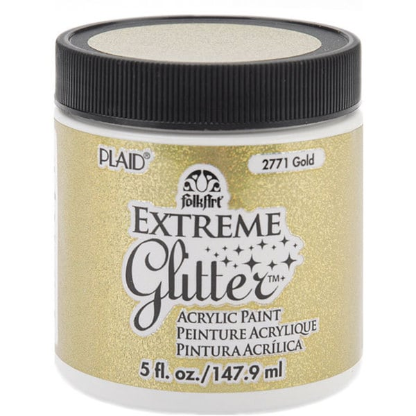 Folk Art Extreme 5-oz Gold Glitter Paint