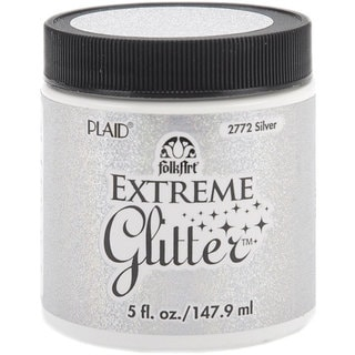 Folk Art Extreme 5-oz Silver Glitter Paint