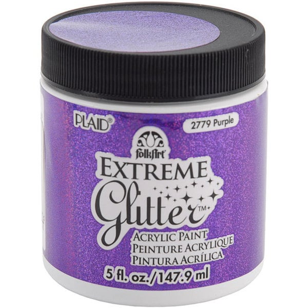 Folk Art Extreme 5-oz Purple Glitter Paint