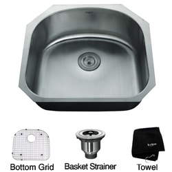 Kraus 24-inch Undermount Stainless Steel 16-gauge Kitchen Sink