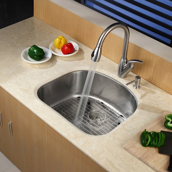 Kraus 24-inch Undermount Steel 16-gauge Kitchen Sink - 12264211 ...