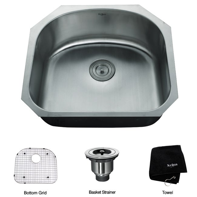 16 Gauge Undermount Kitchen Sink : Kraus 24-inch Undermount Steel 16-gauge Kitchen Sink - Overstock ...