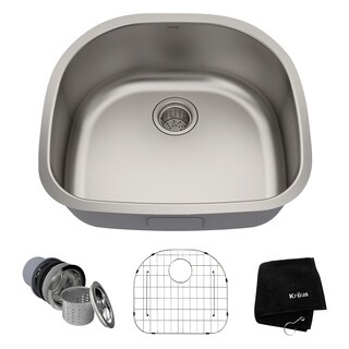 Kraus 24-inch Undermount Steel 16-gauge Kitchen Sink
