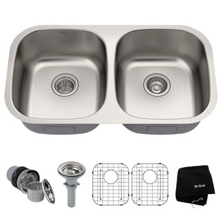 Kraus 32-inch Undermount Steel 16-gauge Kitchen Sink