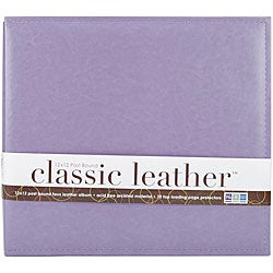 We R Classic Lilac 12x12 Leather Postbound Album