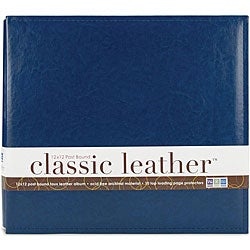 We R Classic 12x12 Cobalt Leather Postbound Album