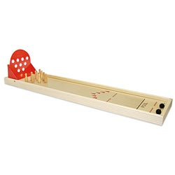 Bowl-A-Mania Miniature Tabletop Solid Wood-frame Bowling Game
