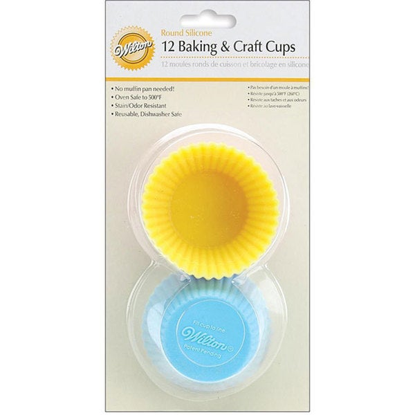 Wilton Silicone Pastel Standard Size Reusable Baking Cups (Pack of 12) 5805159