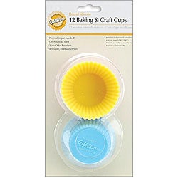 Wilton Silicone Pastel Standard Size Reusable Baking Cups (Pack of 12)