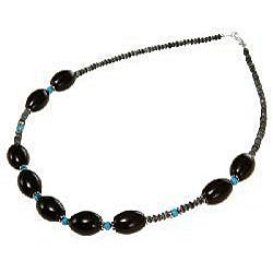 Silver and Gemstone Beaded Necklace (Thailand)