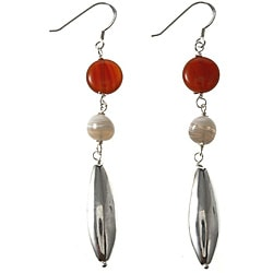 Sterling Silver Agate Earrings (Thailand)