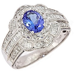 D'Yach 14k White Gold Tanzanite and 3/4ct TDW Diamond Ring (H-I, I2)