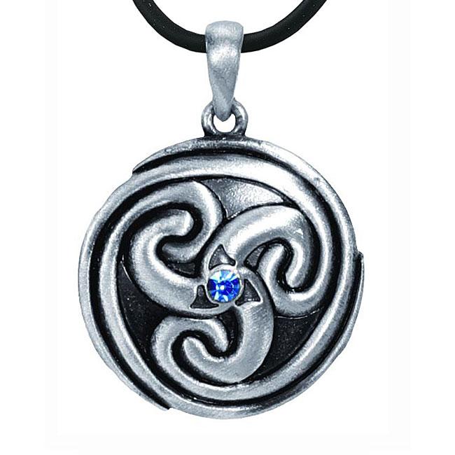 Pewter Celtic Eternal Spiral Necklace