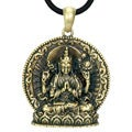 Goldtone Pewter Avalokiteshvara Buddhist Necklace