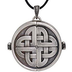 Pewter Large Celtic Locket Necklace