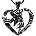 Pewter Fairy Heart Necklace