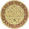 Safavieh Handmade Mahal Ivory/ Rust New Zealand Wool Rug (8' Round)