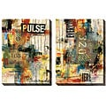 Sara Abbott 'Pulse' Oversized Canvas Art Set
