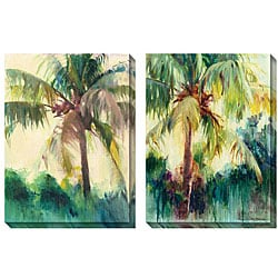 Allyson Krowitz 'Coconut Palm' Oversized Canvas Art Set