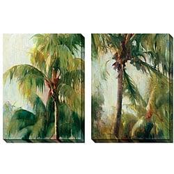 Gallery Direct Allyson Krowitz 'Quiet Palm' Oversized Canvas Art Set