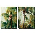 Allyson Krowitz 'Quiet Palm' Oversized Canvas Art Set