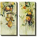 Allyson Krowitz 'Golden Fruit Study' Oversized Canvas Art Set