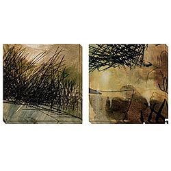 Caroline Ashton 'Nest Series I & II' Oversized Canvas Art Set