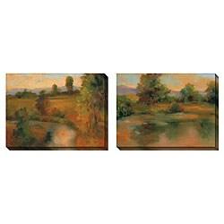 Caroline Ashton 'Incandescence' Oversized Canvas Art Set