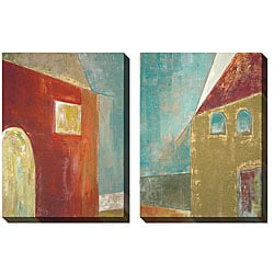 Jane Bellows 'The House' Oversized Canvas Art Set