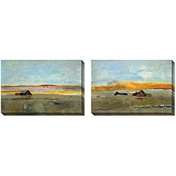 Jane Bellows 'Old Barn' Oversized Canvas Art (Set of 2)