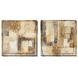 Jane Bellows 'Convolution' Oversized Canvas Art (Set of 2)