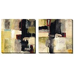 Jane Bellows 'Progress' Oversized Canvas Art (Set of 2)