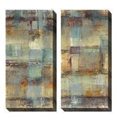 Jane Bellows 'Resurgence' Oversized Canvas Art Set