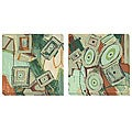 Barbara Zoern 'Arrangement' Oversized Two-piece Canvas Art Set