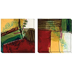 Barbara Zoern 'Foliage III & V' Oversized Canvas Art Set