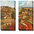 Cecile Broz 'Red Tuscan' Oversized Canvas Art Set