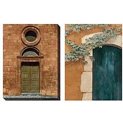 Deborah Dupont 'Door Series III & IV' Oversized Canvas Art Set